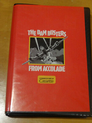 Commodore 64 - The Dam Busters - C64 Cassette Game Digipak & Instruction Manual