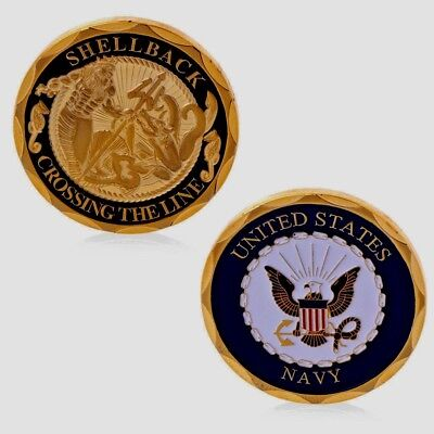 United States Navy Crossing The Line Shellback  Challenge Coin