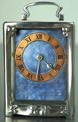 Tudric Pewter Liberty & Co Carriage Clock by Archibald Knox 0721