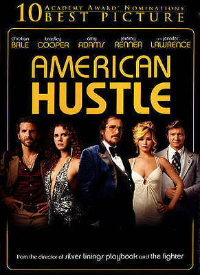 American Hustle (DVD NEW SEALED 2014) Christian Bale Bradley Cooper Amy Adams