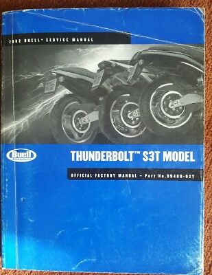 BUELL '2002 Thunderbolt S3T SERVICE MANUAL 99489-02Y