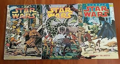 Classic Star Wars  1 2 and 3. By Archie Goodwin Al Williamson .Trade paperbacks.