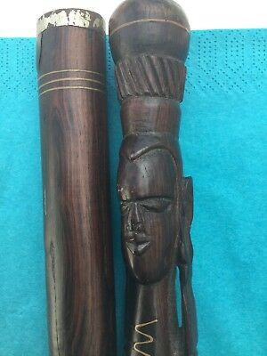 Hand carved African sword possibly West African