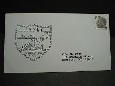 USCGC TANEY WPG-37 Naval Cover 1960's COAST GUARD