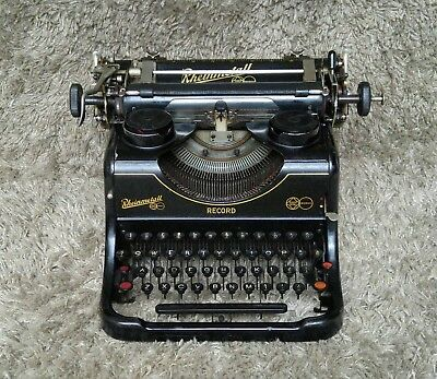 🔶 Rheinmetall Record | Antique Typewriter Made in Germany 1938 | FREE Shipping