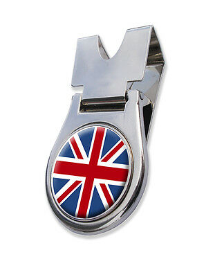 Belt Clip + Magnetic Union Jack National Flag Golf Ball Marker.