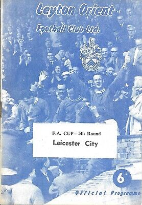62/63 Leyton Orient v Leicester City FAC 5th Round 16th March 1963 ~ #The1pSale