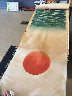 Japan Japanese inks on Silk Scroll Depiction.