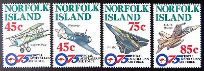 1996 Norfolk Island Stamps - 75th Anniversary of RAAF - Set of 4 MNH