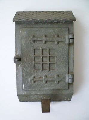 Vintage Wall Mount Arts Crafts Metal Mailbox - American Device Co