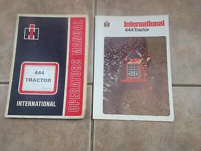 International Harvester 444 Tractors Operators Manual