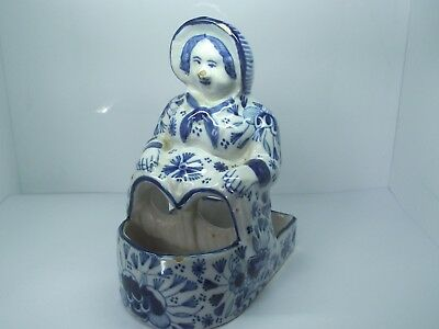 Antique 19th century Aprey French faience Novelty Dutch Lady pottery pot MARKED
