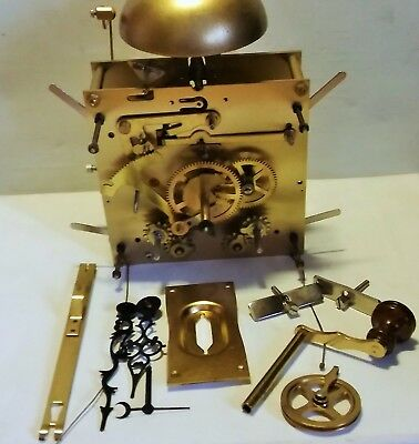 Vintage Kieninger Hs020 8 Day Longcase Clock Movement With Dial