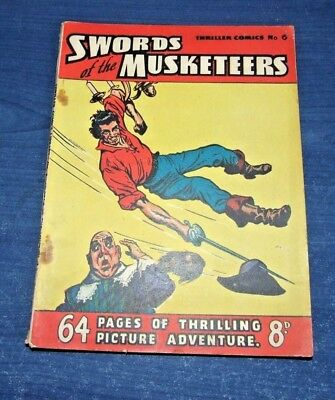 1950s Vintage Thriller Comics #6 - Swords of the Musketeers