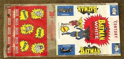 1966 New Century Bread Wrapper with Batman Advertising