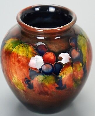 William Moorcroft Flambe Leaf & Berry Miniature Vase