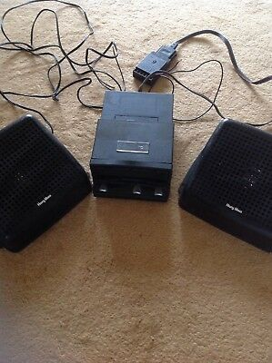 Vintage Bought As Reconditioned Philips Car Cassette Player Harry Moss Speakers