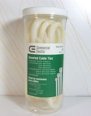 Commercial Electric Assorted Cable Ties - Qty. 26 R1