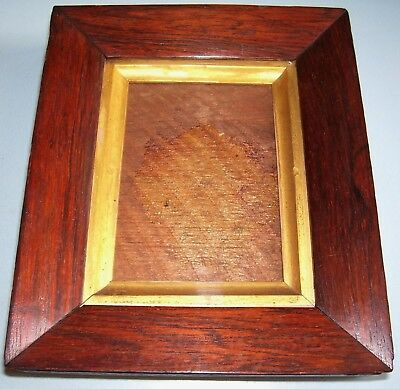 Antique Georgian Miniature Rosewood Sully Gilt Slip Picture Frame Old Glass 1830