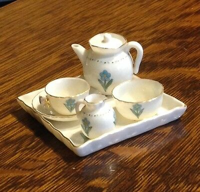 W H Goss miniature tea set