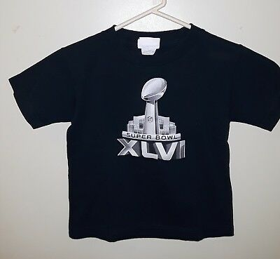 6a03af21 SUPER BOWL XLVI New England Patriots #12 Brady Youth M 5/6 Blue T-Shirt  Reebok