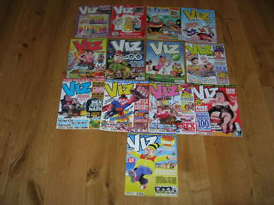 Collection of 13 Viz Comics with Ibiza guide and calendar gift.