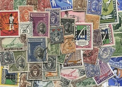 50 Different Zanzibar Stamps - mix of Mint and Used - Free Post