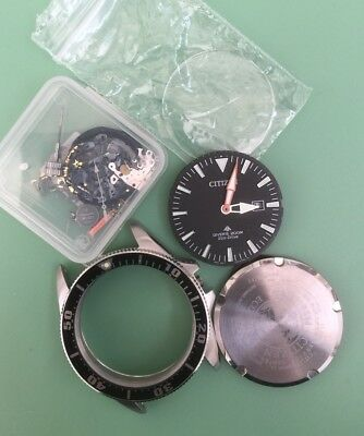 Job Lot Of Used Parts For Citizen Eco-Drive - Men's Divers Watch - BN0100-51E