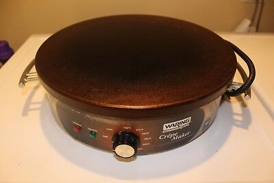 Waring Commercial WSC160 Heavy-Duty Electric Crepe Maker Stainless Steel