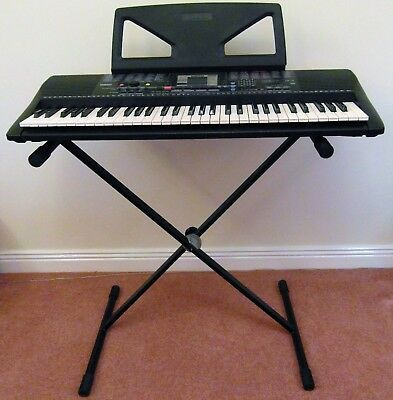 yamaha psr220 keyboard with stand power adapter cover and rh picclick co uk  yamaha p95 owners manual
