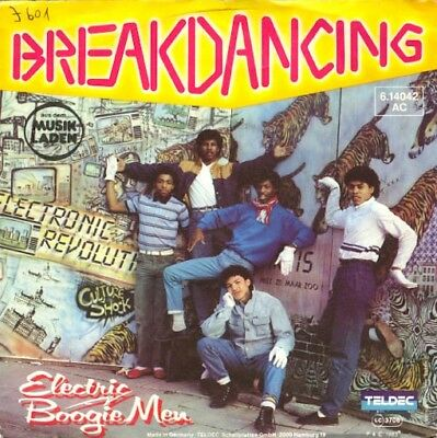 Vinyl Single : Electric Boogie Men - Breakdancing / Baby can you dance all J601