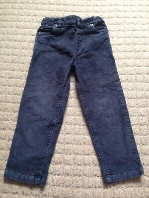 Boy's Age 2-3 Years Little White Company Blue Cord Trousers