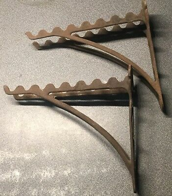 Lot of 2 Vintage Cast Iron Horse Harness Tack Tools Wall Mount Hooks Antique