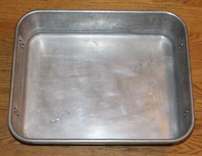 "Wear-Ever 4482 16"" x 20"" Aluminum Strapped Roaster Pan Vollrath"