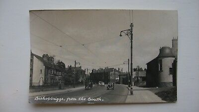 Old Postcard RARE Bishopbriggs, from the South. 1949 real Photo Dunbartonshire