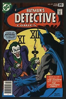 Detective Comic #475 The Best Joker Cover Ever! Great Copy - Unread Since 1978