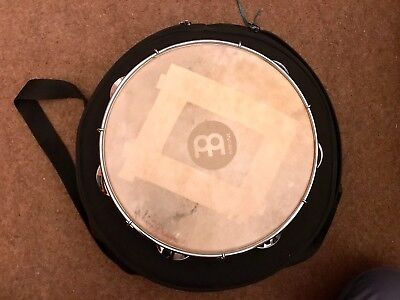 """Meinl 10"""" wooden pandeiro with natural head and case (free postage)"""