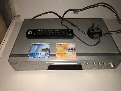 Sony MDS-JE480 Mini Disc Player and reorder with remote control Fully Working
