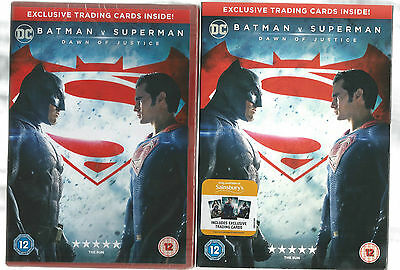 Batman V's Superman Dvd With Free Cards