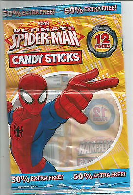 Spiderman Candy Sticks Packets/bags