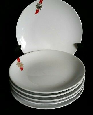 """Six Twa First Class Airline  Luncheon /salad  Plates Abco  44-1698 7"""""""