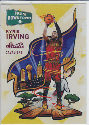 2016/17 Panini STUDIO FROM DOWNTOWN #FD12 KYRIE IRVING Cavaliers CASEHIT RARE
