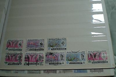 Malaysia Stamps- Orchids Definitives Used Total 8 Stamps