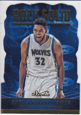2016/17 Panini STUDIO Die-Cut ROCK SOLID #RS-KT KARL-ANTHONY TOWNS CASEHIT