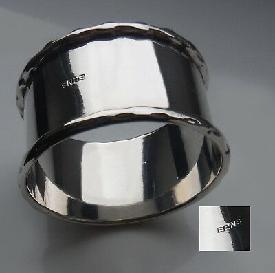 Vgc Vintage Silver Plated Napkin Ring-Pretty Rims