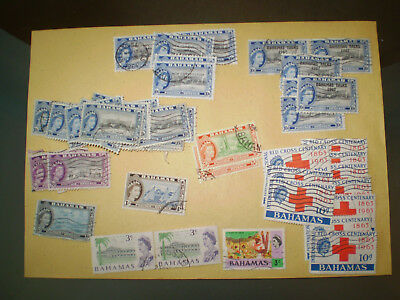 A small selection  from the Bahamas duplicated issues from QE era Red Cross x 10