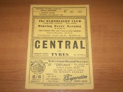Southport v Ipswich Town FA Cup 3rd Rd - 1965/66 (VGC)