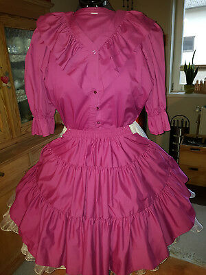 Bluse und Rock Squaredance Outfit S Malco Modes Pink Square Dance