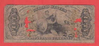 1864-67 50¢ United States *Justice Holding a Scale* Fractional