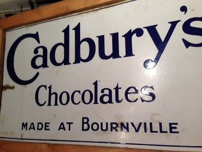 2 Sides,1 sign c.1920,s Enamel Advertising Signs. Cadburys and Bournville